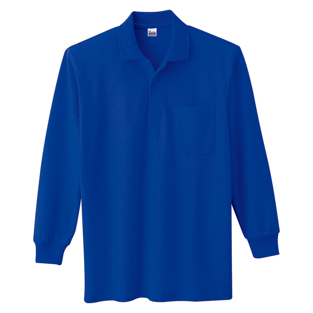 00169-VLP T/C長袖ポロシャツ(ポケット)