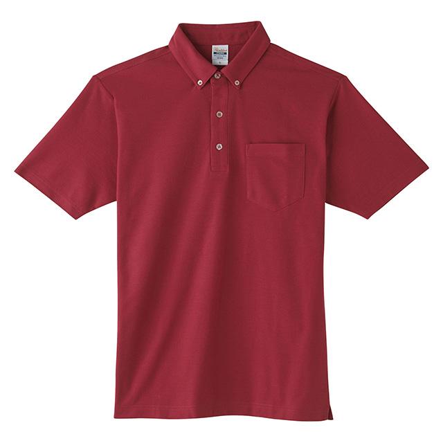 00198-BDQ ボタンダウンポロシャツ(ポケット)