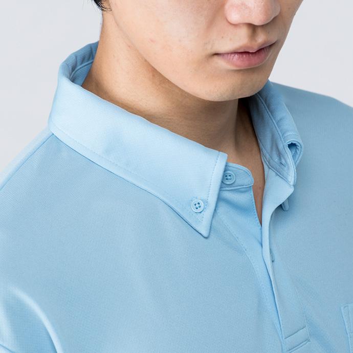 00314-ABL ドライボタンダウン長袖ポロシャツ