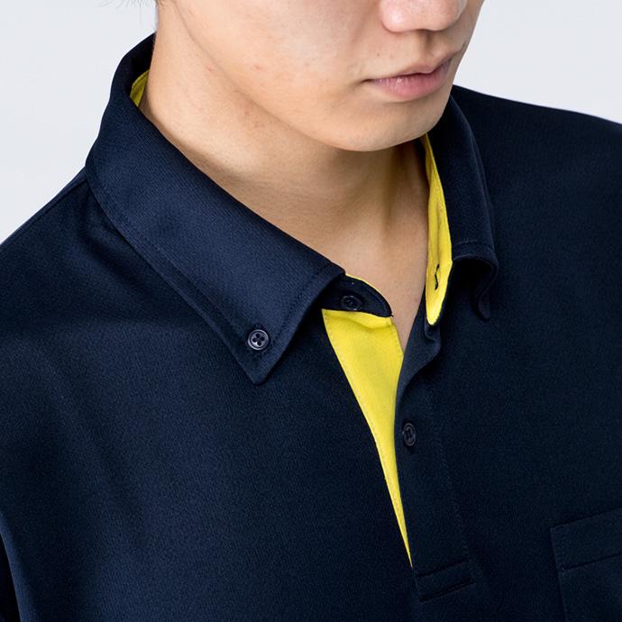 00315-AYB ドライスレイヤードボタンダウンポロシャツ