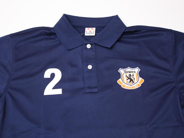 サッカーチームポロシャツ エンブレム 胸番号