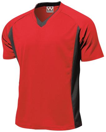 P1910-00 ベーシックサッカーシャツ レッド