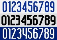 番号ナンバーフォント