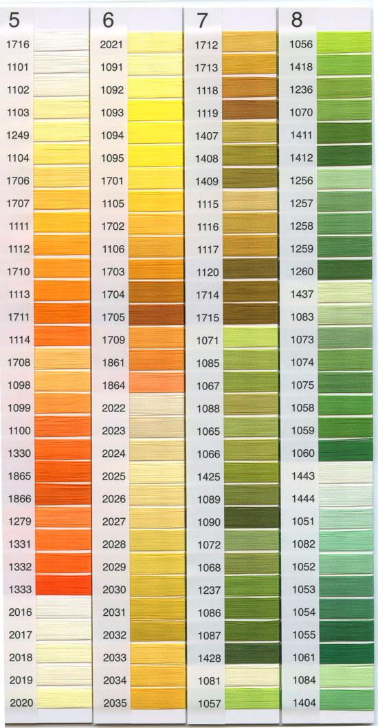 刺繍糸色カラー見本